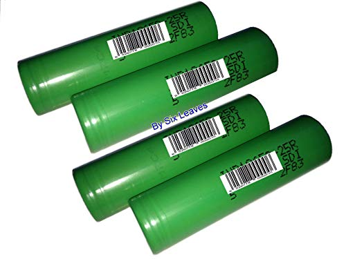 Genuine 25R High Drain Rechargeable Battery, 2500mAh 3.7V (Pack of 4PCS)