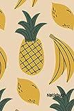 Notizbuch: Ananas Notizbuch | 6x9 Zoll DIN A5 | 120 Seiten Punktraster | Obst Notizheft | Früchte Tagebuch | Sommer Notebook
