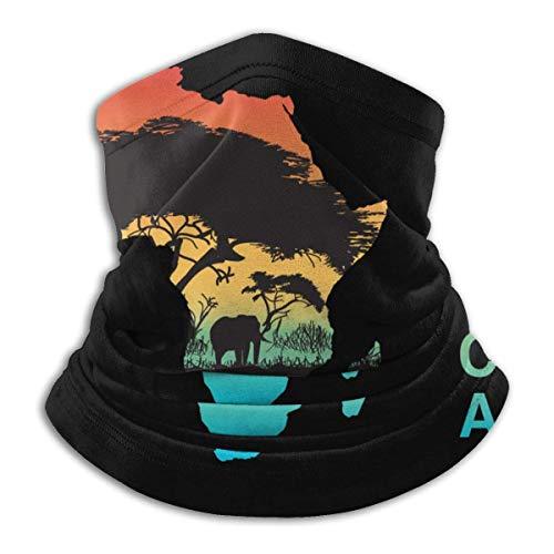 Not Applicable Multifunctional Headwear,Afrika Halsband, Dekorative Schal Stirnbänder Zum Laufen Klettern Camping,26x30cm