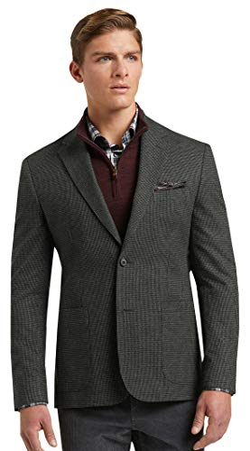 Jos. A. Bank Men's Houndstooth 1905 Tailored Fit Sport Coat (Large) Charcoal Gray