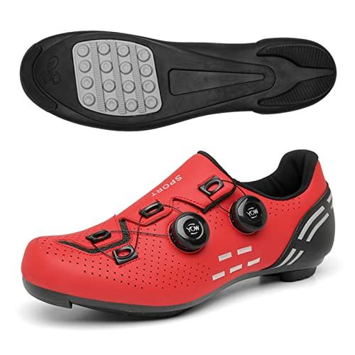 Mtb. Scarpe da ciclismo stradale da ciclismo professionale da gara da corsa all'aperto scarpe da corsa senza chiusura scarpe a gomma non bloccate scarpe da bicicletta autobloccante scarpe da ciclismo