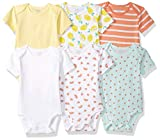 Amazon Essentials Lot de 6 bodys à manches courtes pour bébé fille, Girl Fruit, US 3-6M (EU 62-68)