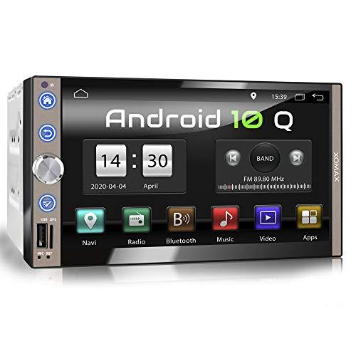 XOMAX XM-2VA769 Autoradio mit Android 10, Quad Core, 2GB RAM, 32GB ROM, GPS Navigation I Support: WiFi WLAN, 3G 4G, DAB+, OBD2 I Bluetooth, 7 Zoll / 18cm Touchscreen, USB, SD, AUX, 2 DIN
