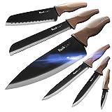 Wanbasion 6 Pezzi Set di Coltelli da Cucina Professionali Chef, Set Coltelli da Cucina Acc...