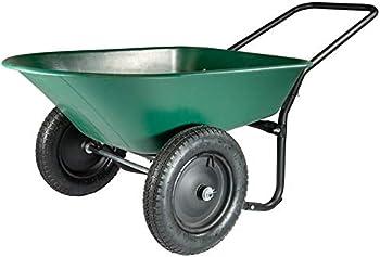 Garden Star Dual Wheel Poly Tray Yard Rover Wheelbarrow