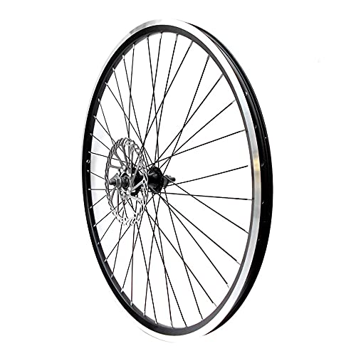 26 pulgadas Ruedas de bicicletas, llanta de doble pared de aleación de aluminio, Rueda Trasero Rueda Delantero giratoria con freno de disco / 26 Inch/Front wheel