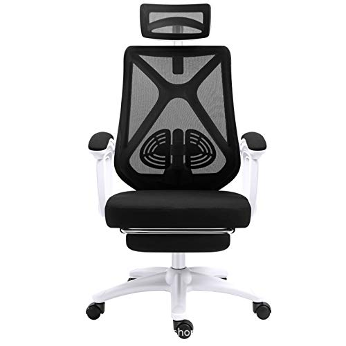 GAOLIQIN Office Desk Chair,Adjustable High-Back Ergonomic Computer Mesh Recliner,Home Office Chairs with Footrest and Lumbar Support,Black