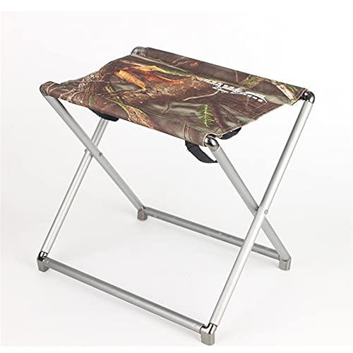 LFLDZ Reisen Ultralight Klappstuhl, Superhard High Load Outdoor Camping-Stuhl, tragbarer Strand Wandern Picknick-Sitzfischereiwerkzeuge Stuhl,Braun