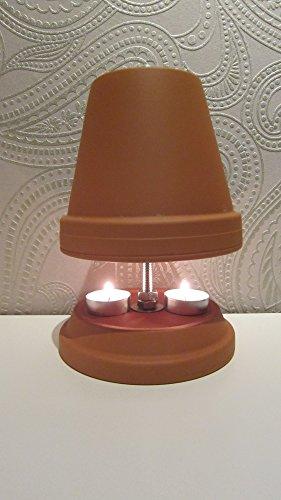 Teelichtofen Kerzenofen Teelichtheizung Höhe 23cm Durchmesser 16cm Farbe Terrakotta