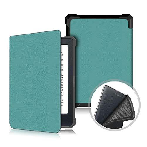 Xuanbeier Custodia Sottile TPU per Kobo Nia 6 Pollici 2020 Tablet,Cover Protettiva con Funzionale Sleep Wake Up Automatica,Verde Malachite