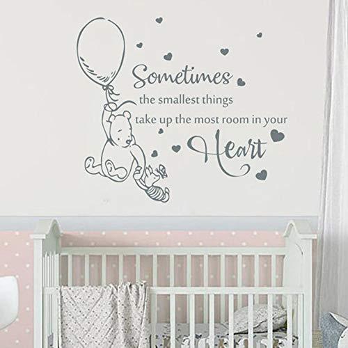 Pegatinas de pared de oso Pegatinas de vinilo Dormitorio de los niños Habitación de bebé Decoración del hogar