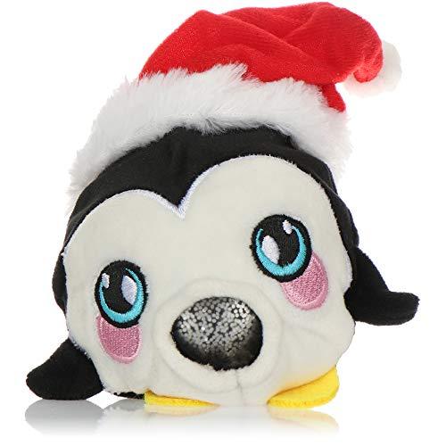 com-four® Anti-Stress Weihnachtsfigur - Squeeze Spielzeug Weihnachten - Quetsch-Ball mit weihnachtlichem Motiv für Kinder und Erwachsene (Pinguin)