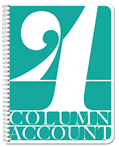 BookFactory 4 Column Account Book/Ledger Book/Accounting Ledger/Notebook (4 Columnar Book Format) - 100 Pages, 8.5' x 11', Wire-O (LOG-100-7CW-PP-(Accounting-4))