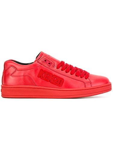 Kenzo Hombre M60847Red Rojo Cuero Zapatillas