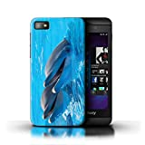 Phone Case for Blackberry Z10 Sea Life Dolphins Happy