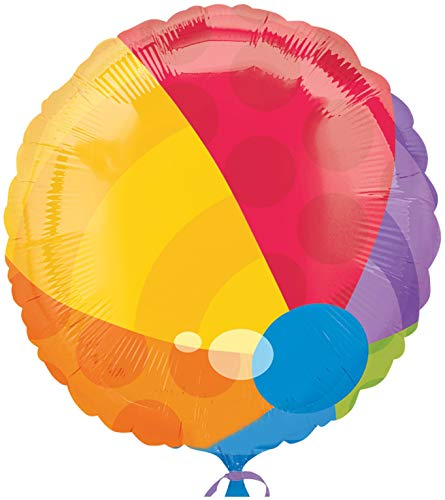 """18"""" Beach Ball Shape Mylar Balloon - Mylar Balloon Foil"""