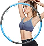 Weighted Hula Hoop for Exercise, Workout Hula Hoops with 8 Detachable Sections for Burning Fat,Hula Hoops Exercise Equipment