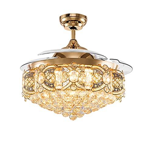 William 337 Lámpara de Ventilador Invisible de Tres Hojas, lámpara de Ventilador de Techo Simple, Sala de Estar Moderna, Comedor, Dormitorio