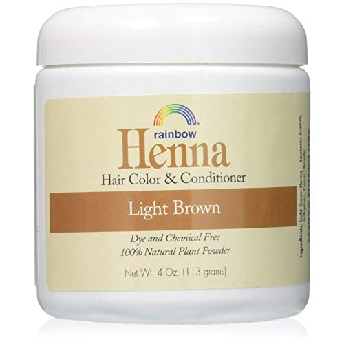 Rainbow Research Henna Hair Color and Conditioner Persian Light Brown - 4 Oz, Pack of 55