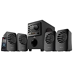 Zebronics Zeb-Sunshine 4.1 Multimedia Speaker with Bluetooth Supporting,USB,mSD,AUX,FM and Remote Control-(Black),Zebronics,Zeb-Sunshine 4.1