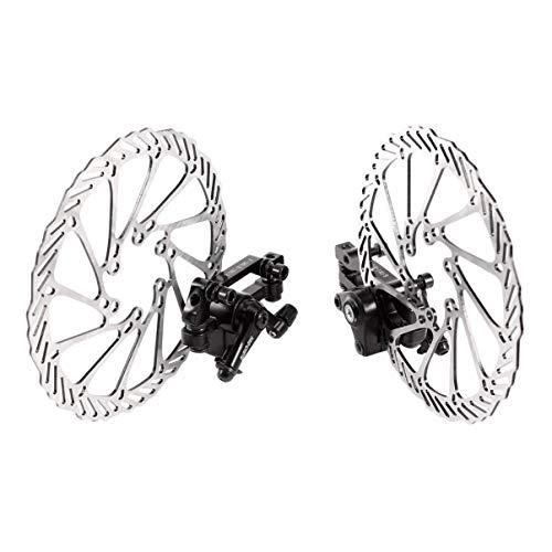 Healifty 1 Paio di Rotori da 160 Mm Rotore Freno a Disco Bici in Acciaio Inox 6 Bulloni per La Maggior Parte della Bici da Strada Bici da Montagna Mountain Bike (Include 12 Viti)