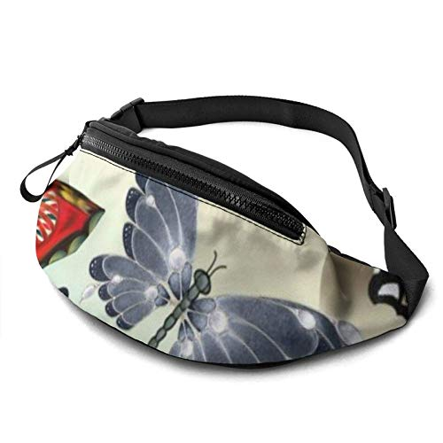 KKLDOGS Bolsa de cintura de camuflaje gris para hombres y mujeres, bolsa de cinturón de fitness, bolsillo ajustable, bolsa de cintura casual para entrenamiento, correr, caminar y viajar