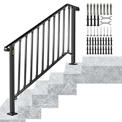 Happybuy Fits 4 or 5 Steps Handrail Picket, Black