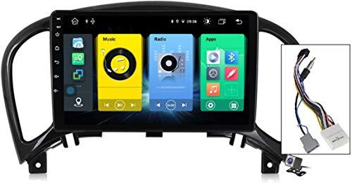 Android 10 Autoradio 2 DIN Car Stereo Coche GPS Navegacion para Nissan Juke 2010-2014 Soporte Carplay/Multimedia FM RDS DSP/Control Volante/Hands-Free Calls