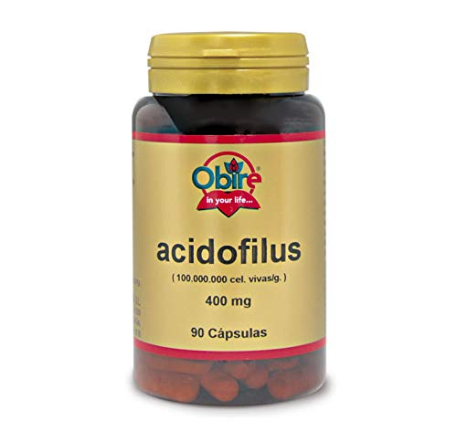 Obire   Acidofilus 400 mg   (Lactobacillus Acidophillus 100.000.000 cel vivas/g.) 90 Cápsulas.