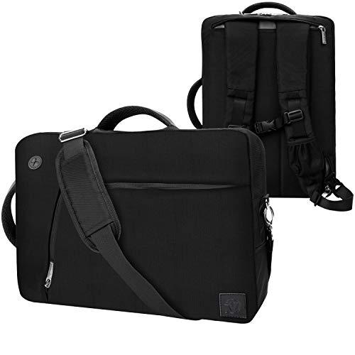 Convertible Laptop Messenger Bag 15 15.6 inch Black for MSI Stealth Apache X Leopard Workstation Dominator Raider