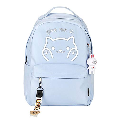 Anime Neko Atsume Cat Backyard Backpack Cosplay Bookbag Daypack Laptop Bag School Bag