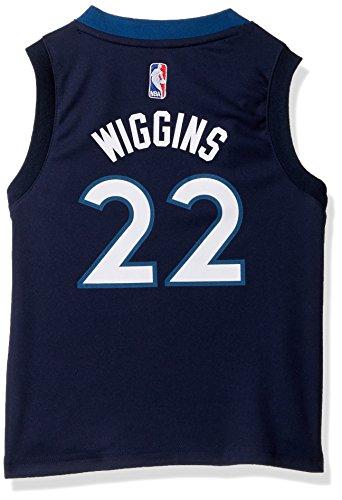 Outerstuff NBA Minnesota Timberwolves-Wiggins Kids Replica Player Jersey-Road, Large(7), Capital Blue