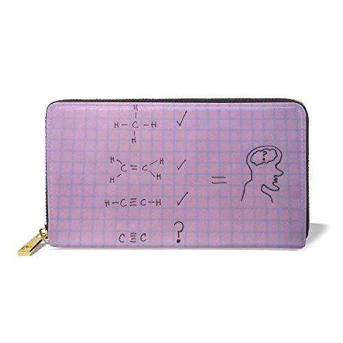Clutch Bag,Monedero De Física Y Química, Carteras Blandas para Bodas, Fiestas, Cumpleaños,10.5(W) x19(L) x2.5(T) cm