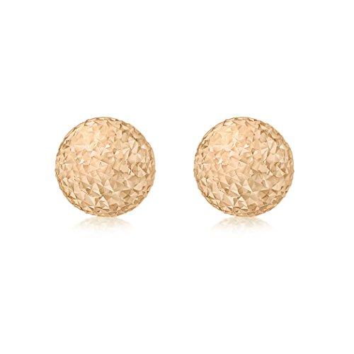 Carissima Gold Damen 9k (375) Rotgold 8 mm Diamantschliff Ball Ohrstecker 5.55.8069