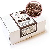 Sweet Wishes Gotas de chocolate con leche belga para fondue. 900 gr. Una delicia suave para fuentes o fondue de chocolate. 10 sobres embalados individualmente.