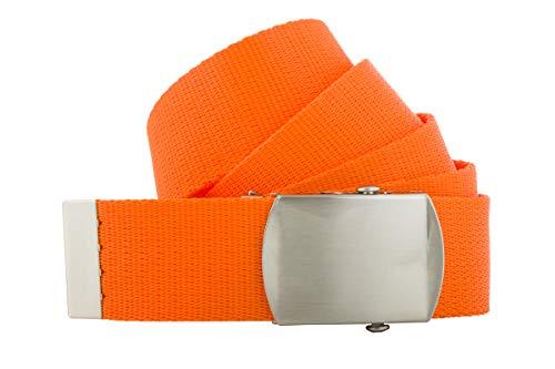Shenky 4cm Stoffgürtel hochwertig 140cm bis 200cm (150cm, Orange)