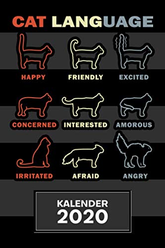 KALENDER 2020: A5 Kätzchen Terminplaner für Katzenhalter mit DATUM - 52 Kalenderwochen für Termine & To-Do Listen - Katzensprache Terminkalender Katzen Typen Jahreskalender Körpersprache von Katzen
