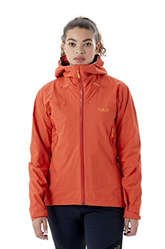 RAB Downpour Plus 2.0 Jacket Women, 14 UK/14 UK Damen, red Grapefruit GF