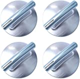 74010839 Burner Control Knob Replacement Compatible with Maytag Jenn Air, Replace 7737P372-60 PS11744413 WP74010839VP (4 Packs)