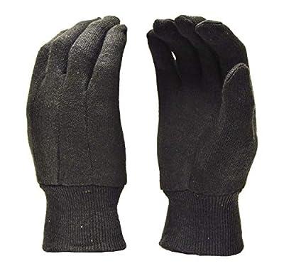 G & F Regular Brown Jersey Gloves, Large