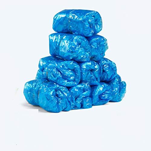 100 pezzi Copriscarpe in plastica usa e getta Camere Esterne Impermeabile Stivali da pioggia Tappeto Pulito Ospedale Soprascarpe Sovrascarpe usa e getta Cura,Blu