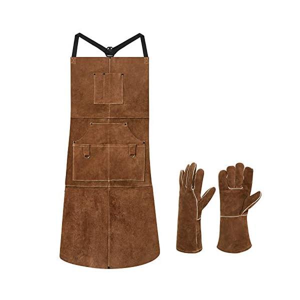 Eletecpro Leather Welding Apron & Gloves 1