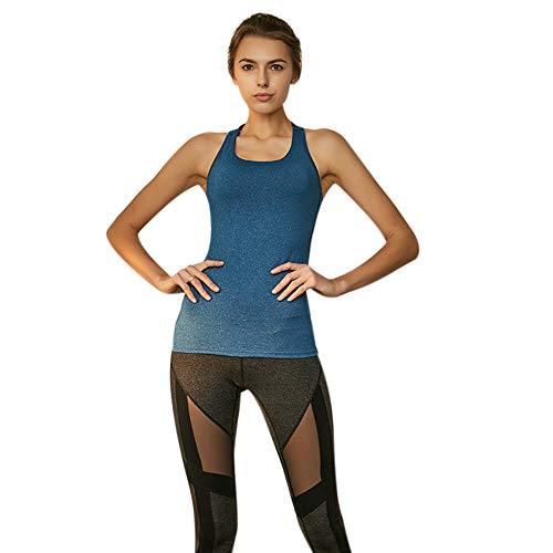 Minions Boutique Camiseta de yoga sexy con espalda descubierta, para mujer, transpirable, para el gimnasio
