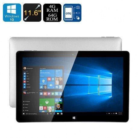 Ponticello EZpad 6 Tablet PC - Windows con licenza 10, 4GB di RAM, CPU Intel Cherry Trail, schermo 11,6 pollici, OTG