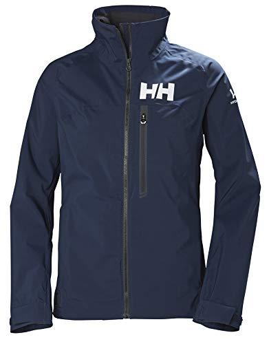Helly Hansen Hp Racing Prueba de Viento Y Respirable Cuello Forro Polar Marina Deportes Navegación Chaqueta Impermeable Mujer