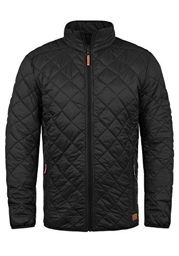Blend Stanley Herren Steppjacke Übergangsjacke Jacke gefüttert mit Stehkragen, Größe:S, Farbe:Black (70155)