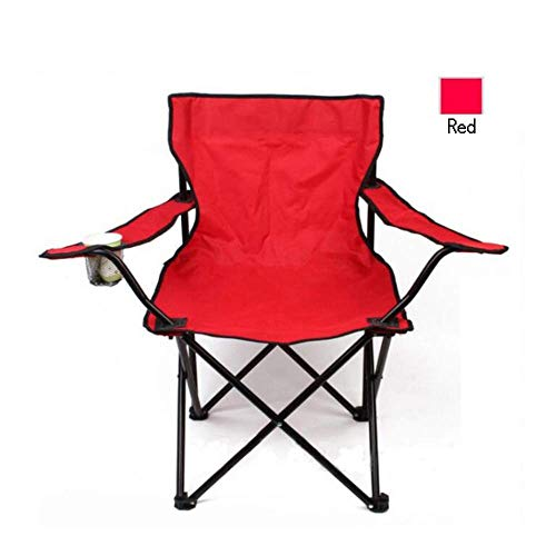 Mnjin Casual et Confortable Solid Color Large Portable Camping Chair Outdoor One-Piece Chair with Accouders/Folding Chair/Beach Chair/Fishing Chair for Camping, Festivals, Garden, Fishing, B