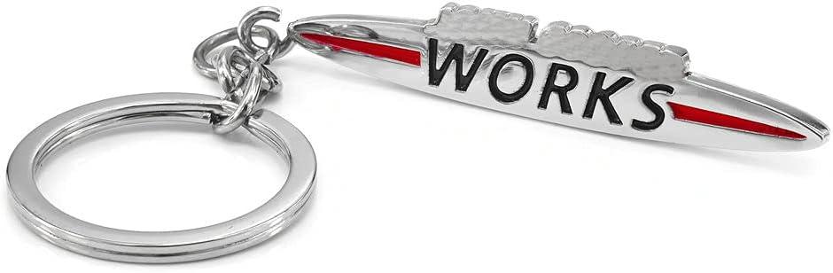 HEINMO'S Insignia del Emblema del Logotipo de JCW del Anillo de Llavero de Metal Cromado 3D para Mini Cooper JCW Serie R/F Clubman Hatchback Countryman Paceman 3 5 Puertas