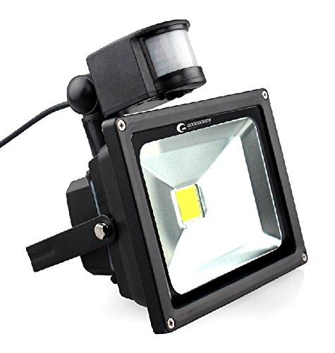 GOODGOODS LED センサーライト 50W 5500LM センサー 投光器 広角 防水 屋外 人感センサー搭載 防犯灯 玄関灯【一年保証】 GY50W