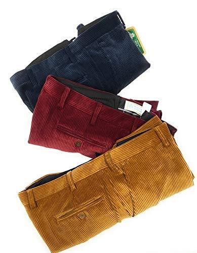 Pantalón aterciopelado, Duca Visconti de Modrone elástico (10 colores) de la 48 a la 60 más tamaños calibrados (55-57-59-61-63-65) Tris1 54